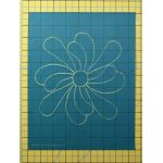 "Full Line Stencil Feather Flower, 1-way petal -7.5"" by Hancy Full Line Stencils Pounce Pads & Quilt Stencils - OzQuilts"