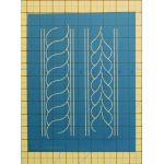 "Full Line Stencil Border Braids - 2.5"" by Hancy Full Line Stencils Pounce Pads & Quilt Stencils - OzQuilts"