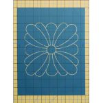 Full Line Stencil Square Daisy by Hancy Full Line Stencils Pounce Pads & Quilt Stencils - OzQuilts