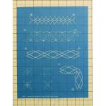 "Full Line Stencil Mini 1"" wide Borders by Hancy Full Line Stencils Pounce Pads & Quilt Stencils - OzQuilts"