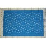 "Full Line Stencil Offset Diamond Grid - 2"" x 4"" by Hancy Full Line Stencils Pounce Pads & Quilt Stencils - OzQuilts"