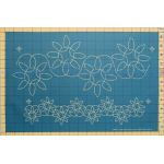"Full Line Stencil Dancing Sunflowers - 6 ¾"" & 3"" by Hancy Full Line Stencils Pounce Pads & Quilt Stencils - OzQuilts"