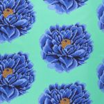 "Full Bloom 108"" wide Quilt Backing - Blue by The Kaffe Fassett Collective Full Bloom Quilt Backing - OzQuilts"