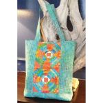 Tropical Pineapple Tote Cut Loose Press Pattern by Jean Ann Wright by Cut Loose Press Cut Loose Press Patterns - OzQuilts