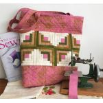 Tickled Pink Tote Cut Loose Press Pattern by Jean Ann Wright by Cut Loose Press Patterns Cut Loose Press Patterns - OzQuilts