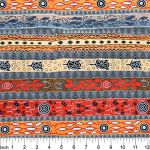 Dreaming in One Flame Orange Australian Aboriginal Art Fabric by Bradley Stafford by M & S Textiles Cut from the Bolt - OzQuilts