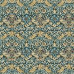 Bloomsbury William Morris Collection - Mini Strawberry Thief in Teal by Free Spirit Fabrics William Morris - OzQuilts