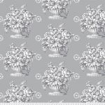 "Stone Flower 108"" wide Quilt Backing - Grey by The Kaffe Fassett Collective Stone Flower Quilt Backing - OzQuilts"