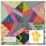 Shooting Star Tempter Patchwork Quilt Block Template set by Jen Kingwell Designs by Jen Kingwell Designs Jen Kingwell Designs Templates - OzQuilts