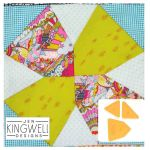 May Flower Tempter Patchwork Quilt Block Template set by Jen Kingwell Designs by Jen Kingwell Designs Jen Kingwell Designs Templates - OzQuilts