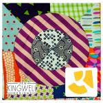 Sprinkled Delight Tempter Patchwork Quilt Block Template set by Jen Kingwell Designs by Jen Kingwell Designs Jen Kingwell Designs Templates - OzQuilts