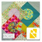 Rising Sun Tempter Patchwork Quilt Block Template set by Jen Kingwell Designs by Jen Kingwell Designs Jen Kingwell Designs Templates - OzQuilts