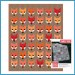 Fancy Fox Quilt Kit by Elizabeth Hartman by Robert Kaufman Fabrics Great Gift Ideas - OzQuilts