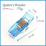 Quilter's Wonder Clips - 25 Blue Clips by OzQuilts Wonder Clips & Hem Clips - OzQuilts