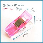 Quilter's Wonder Clips - 25 Pink Clips by OzQuilts Wonder Clips & Hem Clips - OzQuilts