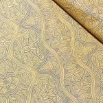 """Aboriginal Art Fabric 10 pieces 10"""" Squares Layer Cake Pack - Light Gold Colourway by M & S Textiles 10"""" Squares - OzQuilts"""