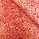 """Aboriginal Art Fabric 10 pieces 10"""" Squares Layer Cake Pack - Light Red Colourway by M & S Textiles 10"""" Squares - OzQuilts"""