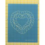 Full Line Stencil Feather Heart by Hancy Full Line Stencils Pounce Pads & Quilt Stencils - OzQuilts