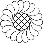 Full Line Stencil Feather Wreath with Grid by Hancy Full Line Stencils Pounce Pads & Quilt Stencils - OzQuilts