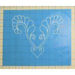 Full Line Stencil Secret Heart Feather by Hancy Full Line Stencils Pounce Pads & Quilt Stencils - OzQuilts