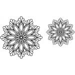 Full Line Stencil Feather Doily 9″ and 6 3/4″ sizes by Hancy Full Line Stencils Pounce Pads & Quilt Stencils - OzQuilts