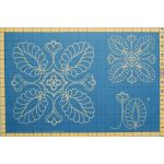 Full Line Stencil Plume Array - 2 Sizes 9 1/4″& 5 1/2″ by Hancy Full Line Stencils Pounce Pads & Quilt Stencils - OzQuilts