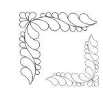 Full Line Stencil Feather Corner, 2x by Hancy Full Line Stencils Pounce Pads & Quilt Stencils - OzQuilts