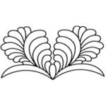 Full Line Stencil Dream Feather 804 by Hancy Full Line Stencils Pounce Pads & Quilt Stencils - OzQuilts
