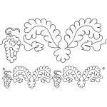 Full Line Stencil Feathers & Grapes, 2x by Dave Hudson by Hancy Full Line Stencils Pounce Pads & Quilt Stencils - OzQuilts