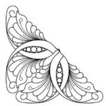 Full Line Stencil Garden Feather in Four Sizes by Hancy Full Line Stencils Pounce Pads & Quilt Stencils - OzQuilts