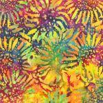 Sunflowers BeColourful Batik by Jacqueline De Jonge by Anthology Fabrics BeColourful by Jacqueline de Jongue - OzQuilts