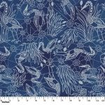 Brolga Dreaming Blue by Nambooka by M & S Textiles Cut from the Bolt - OzQuilts