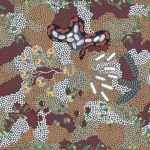 Bush Tucker Dreaming in Grey Australian Aboriginal Art Fabric by  Audrey Martin Napanangka by M & S Textiles Cut from the Bolt - OzQuilts