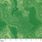 Dreamtime Riverbed Green by Anna Pitjara by M & S Textiles Cut from the Bolt - OzQuilts
