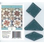 Indiana Medallion Quilt 3 Piece Acrylic Template Set by Margaret Mew by Paper Pieces EPP Templates - OzQuilts