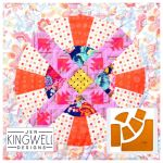 Wagon Wheel Tempter Patchwork Quilt Block Template set by Jen Kingwell Designs by Jen Kingwell Designs Jen Kingwell Designs Templates - OzQuilts