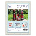 Quilt As You Go Wine Totes Pattern Printed on Fusible Batting by June Tailor Printed Batting - OzQuilts