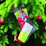 Quilt As You Go Holiday Stocking Square Pattern Printed on Fusible Batting by June Tailor Printed Batting - OzQuilts