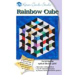 Rainbow Cube Quilt Pattern + Acrylic Template by Karen Combs by Karen Combs 3D Quilts - OzQuilts