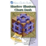 Shadow Illusions Churn Dash Quilt Pattern + Acrylic Template by Karen Combs by Karen Combs 3D Quilts - OzQuilts