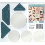 Rosa Biddlecombe Quilt Acrylic Template Set + Mylar Circles by Margaret Mew by Paper Pieces EPP Templates - OzQuilts