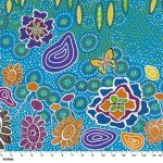 Summertime Rainforest Blue by Heather Kennedy by M & S Textiles Cut from the Bolt - OzQuilts