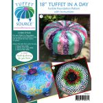 "Fusible 18"" Tuffet In a Day Pattern & Fusible Interfacing with Instructions and 4 inch Button by Tuffet Source Table Toppers, Tuffets & Runners - OzQuilts"