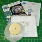"""Fusible 18"""" Tuffet In a Day Pattern & Fusible Interfacing with Instructions and 4 inch Button by Tuffet Source Table Toppers, Tuffets & Runners - OzQuilts"""