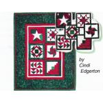 Holiday Mini-Quilt and Ornaments Pattern and Tissue Foundation Papers by A Very Special Collection Christmas - OzQuilts