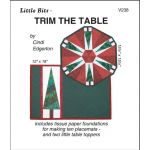 Trim the Table Pattern and Tissue Foundation Papers by A Very Special Collection Christmas - OzQuilts