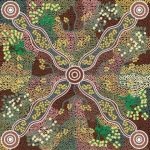 Yuendumu Bush Tomato Black by A M Napanangka by M & S Textiles Cut from the Bolt - OzQuilts