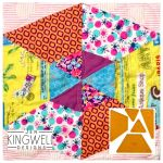 Fractured Hexagon Tempter Patchwork Quilt Block Template set by Jen Kingwell Designs by Jen Kingwell Designs Jen Kingwell Designs Templates - OzQuilts
