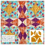 Hopscotch Tempter Patchwork Quilt Block Template set by Jen Kingwell Designs by Jen Kingwell Designs Jen Kingwell Designs Templates - OzQuilts