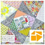 Coloured Turbine Tempter Patchwork Quilt Block Template set by Jen Kingwell Designs by Jen Kingwell Designs Jen Kingwell Designs Templates - OzQuilts